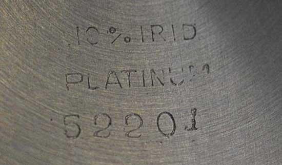 Как расшифровать пробу на платиновых часах или браслете