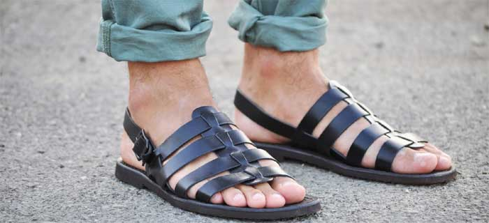 Летние мужские сандалии гладиаторы