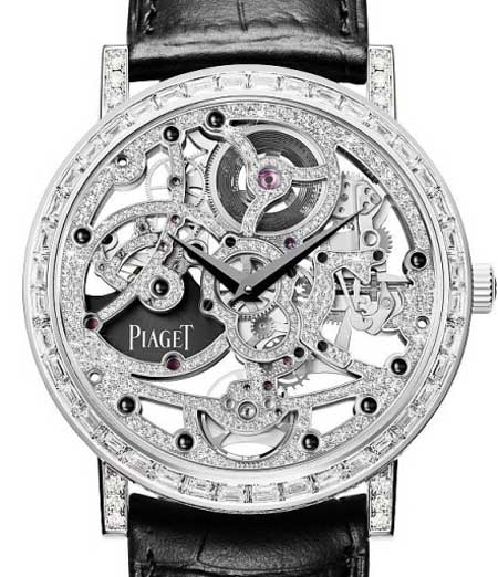 Эксклюзивные наручные часы - джем сет - скелетоны с бриллиантам