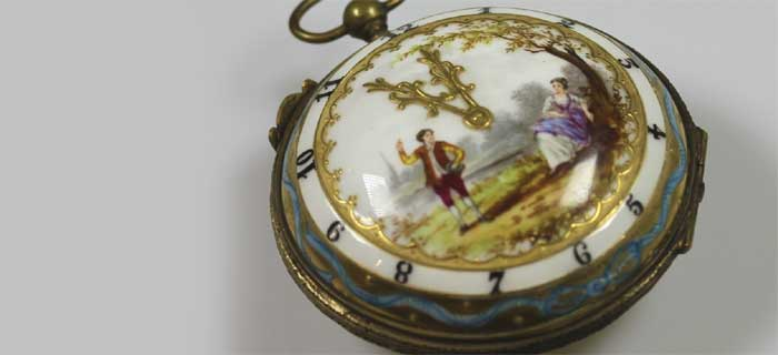 Карманные часы с эмалевым циферблатом: эмальерная техника
