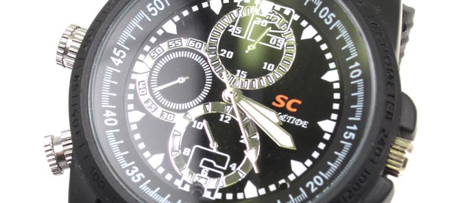 Spy Watch HD от Thanko: наручные часы со встроенной видеокамерой [видео]