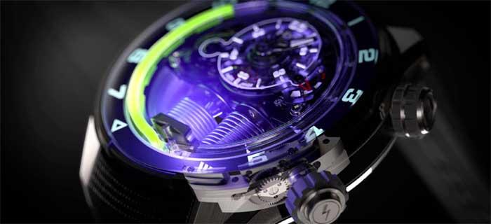 Необычные часы: HYT H4 - электро-механический фурор [видео]