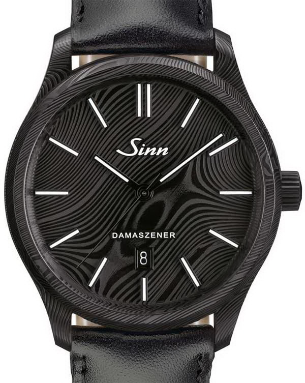 Необычные часы: Sinn Model 1800 S Damaszener в дамасской стали