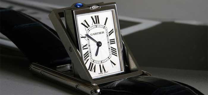 Переворачивающиеся часы - история - Cartier Basculante