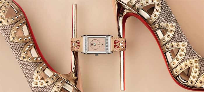 Женские наручные часы Jaeger-LeCoultre Reverso от Кристиана Лубутена [видео]
