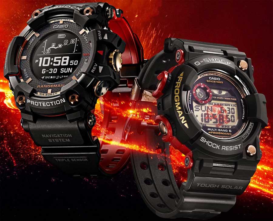 Новые G-Shock Rangeman и Frogman серии Magma Ocean: почему магма?