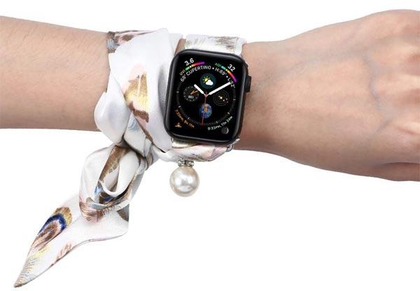 Что можно пошить из шифона - ремешок для Apple Watch